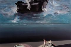 Hledači/Seekers - olej na plátně, 160 x 280 cm, 2017