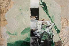 Úmorná práce jest před tebou - kombinovaná technika na plátně, 40 x 40 cm, 2018 - v nabídce Knupp Gallery