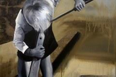 Brouky viděti - tvá skromnost učiní tě oblíbeným - akryl na plátně, 2017 - soukromá sbírka ČR