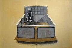 Hra - akryl na plátně, 200 x 280 cm, 2016