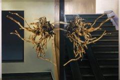 Sítě - olej a koláž na plátně 280  x 200 cm, 2021