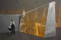 Střelba - akryl na plátně, 140 x 200 cm, 2017 - soukromá sbírka Slovensko