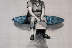 Na zápraží - akvarel A2, 2017 - soukromá sbírka Německo