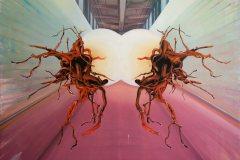 Průnik - olej na plátně, 130 x 180 cm, 2021
