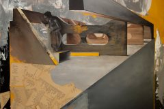 Stříbro surové - neškodilo by ti trochu zbožnosti - kombinovaná technika na plátně, 165 x 140 cm, 2019 - v nabídce Knupp Gallery