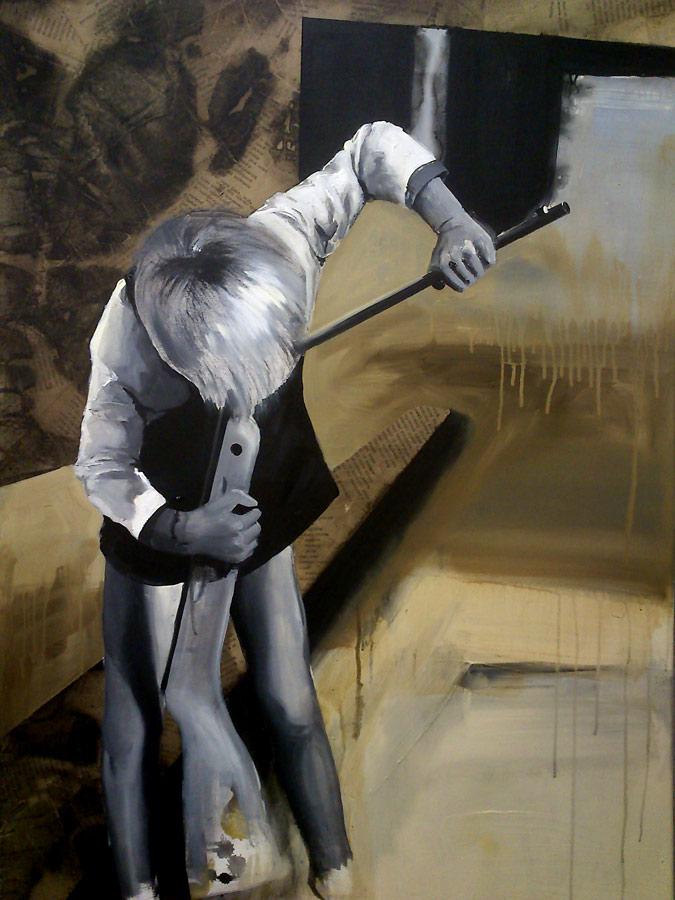 Brouky viděti, tvá skromnost učiní tě oblíbeným - arkyl na plátně, 100 x 125 cm, 2017, soukromá sbírka