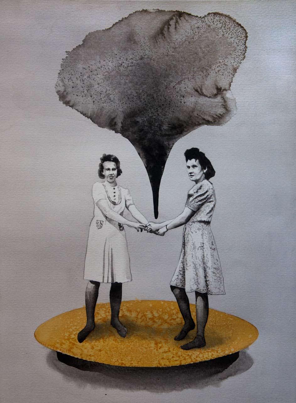Čaro - akvarel, A2, 2017 - soukromá sbírka Německo