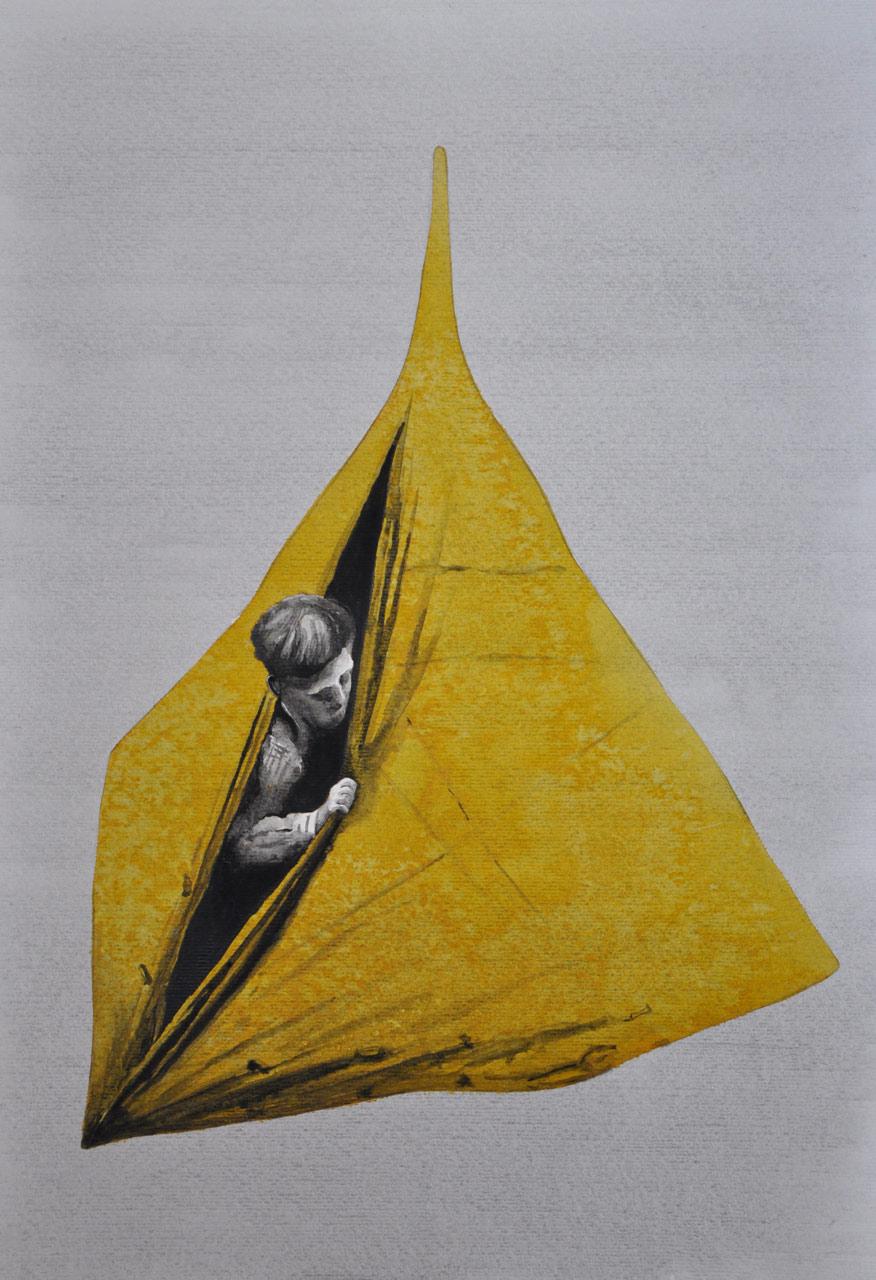 Cesta - akvarel, A2, 2016, soukromá sbírka