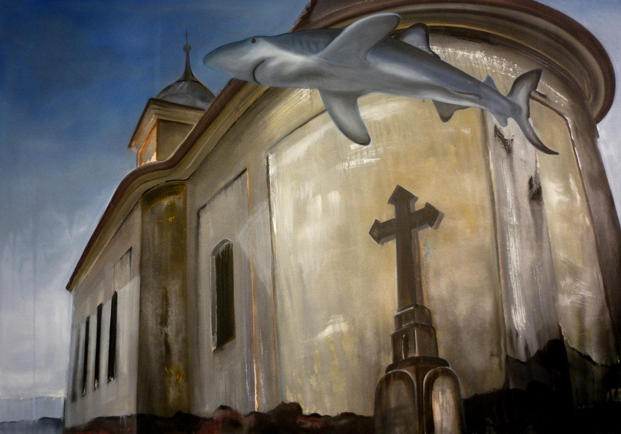 Jakube! - akryl na plátně, 200 x 140 cm, 2012