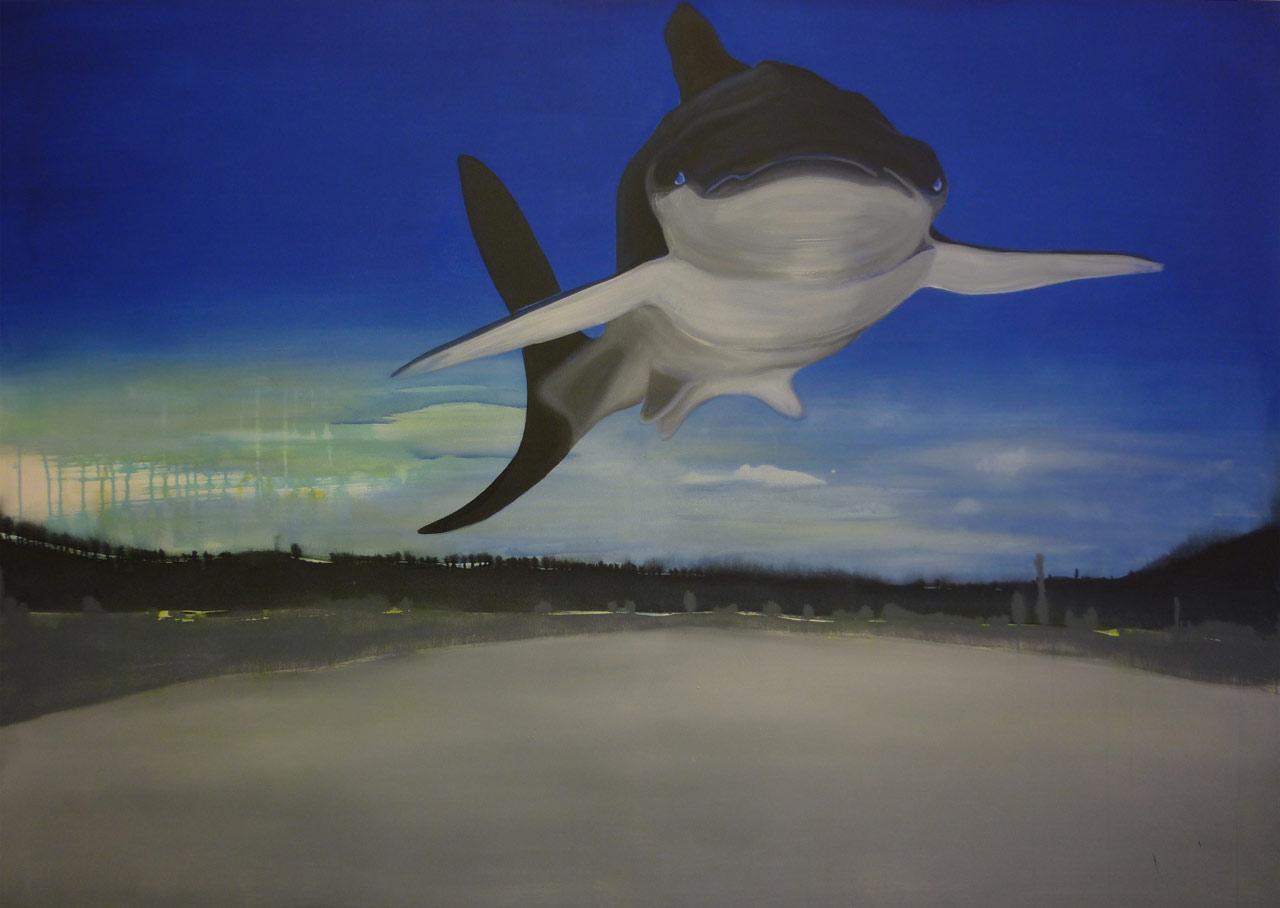 Kolářovy maringotky - akryl na plátně, 200 x 140 cm, 2012