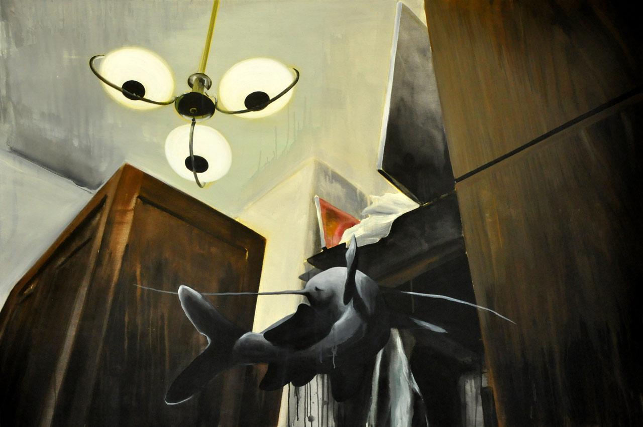První den - akryl na plátně, 200 x 140 cm, 2012