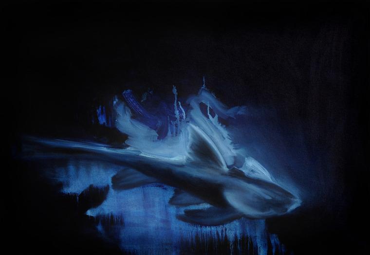 Z cyklu Vakuum, olej na plátně, 100 x 70 cm, 2011
