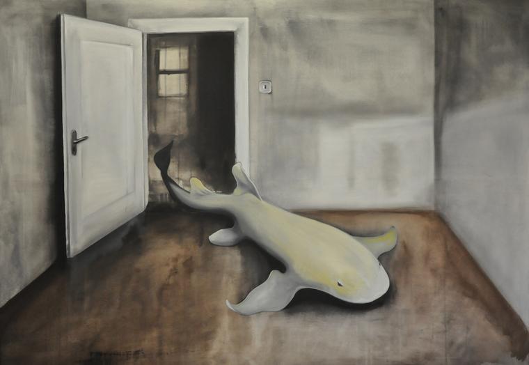 Další poslední hra na schovávanou - akryl na plátně, 200 x 140 cm, 2012, soukromá sbírka