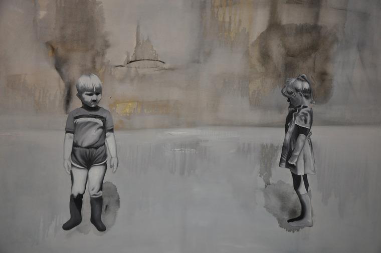 Kazisvět - olej na plátně, 120 x 100 cm, 2010, soukromá sbírka