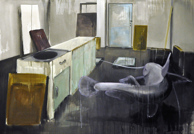 Velké plány - akryl na plátně, 200 x 140 cm, 2012