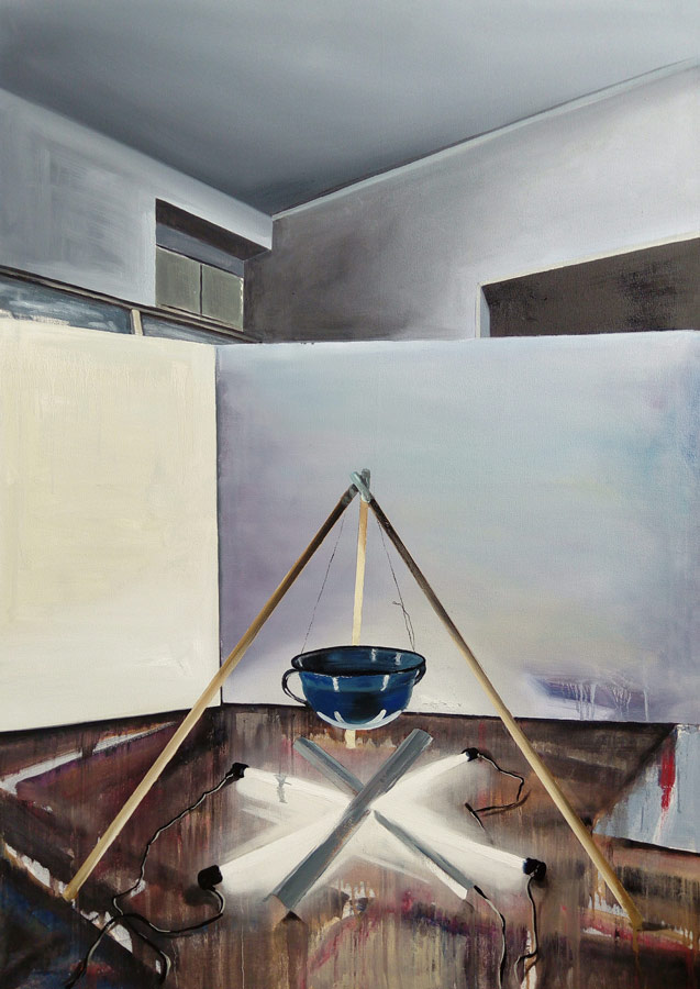 X - olej na plátně, 140 x 100 cm, 2017 - soukromá sbírka Německo