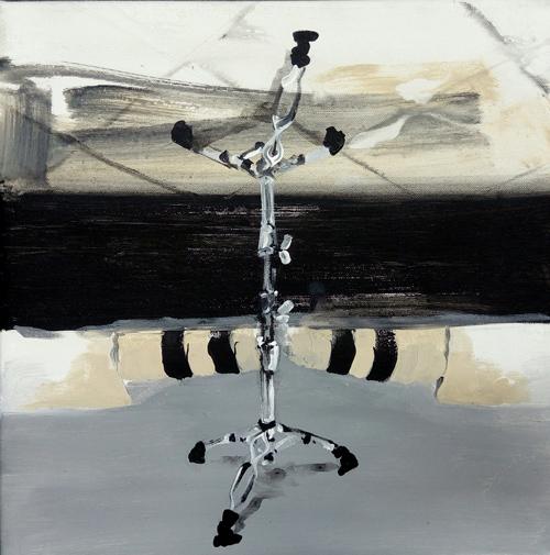bez názvu - akryl na plátně, 40 x 40 cm, 2018