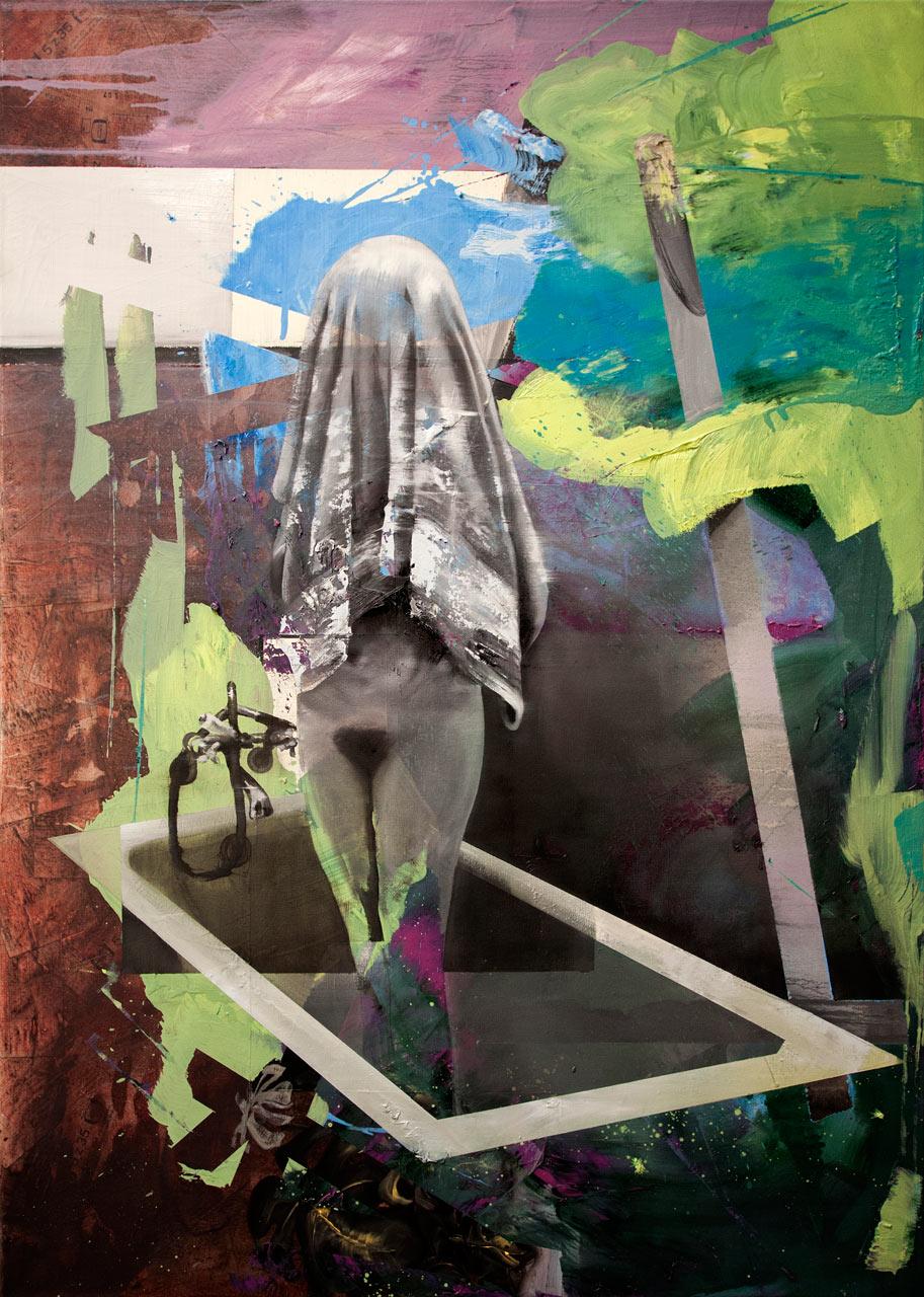 Osuška - olej na plátně, 140x100cm