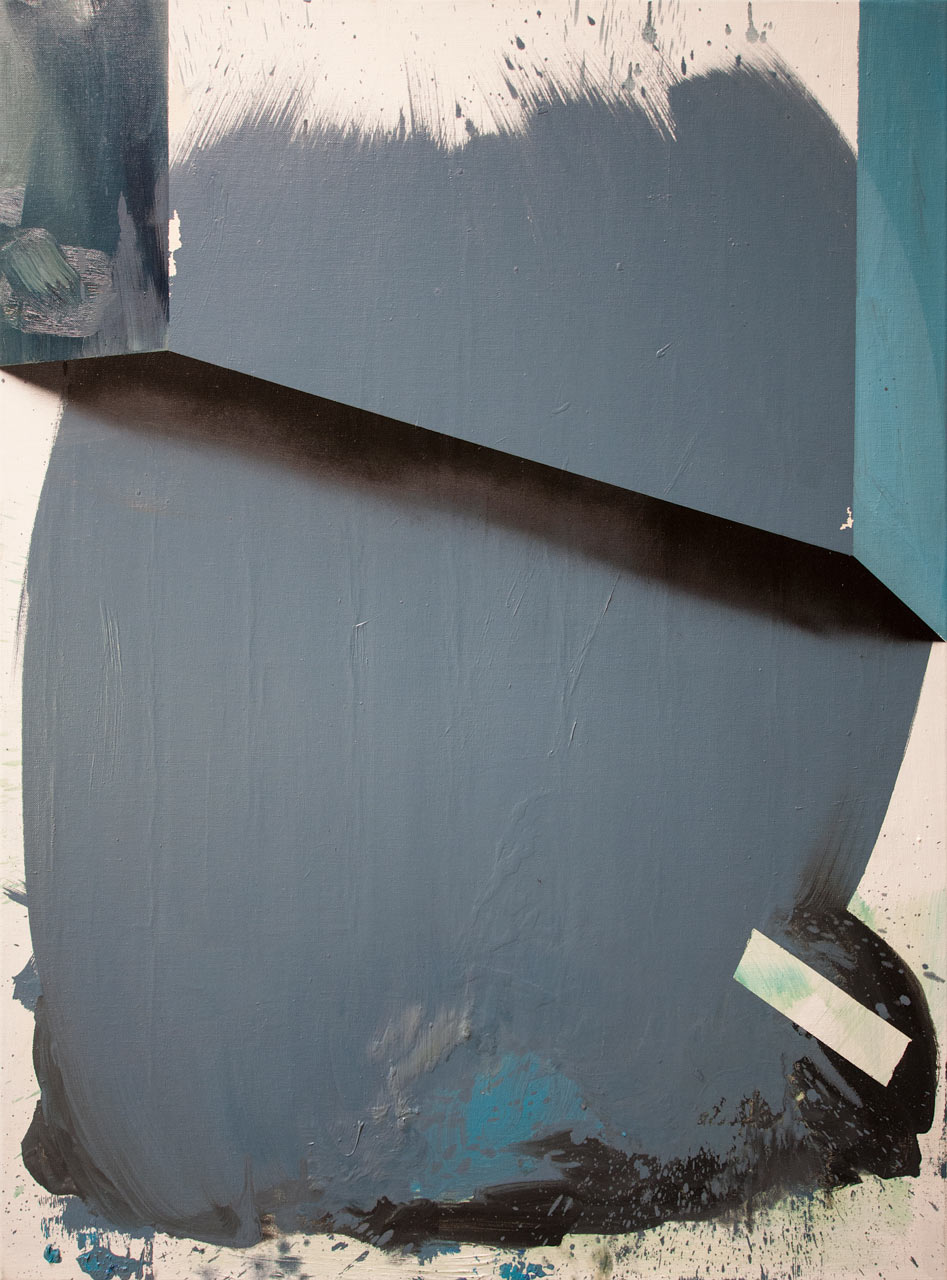 Kompozice - akryl a olej na plátně, 115 x 85 cm, 2018