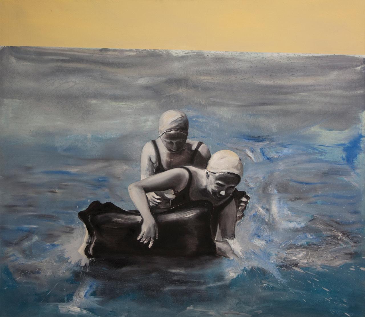 Hledači I - olej na plátně, 140 x 160 cm, 2017