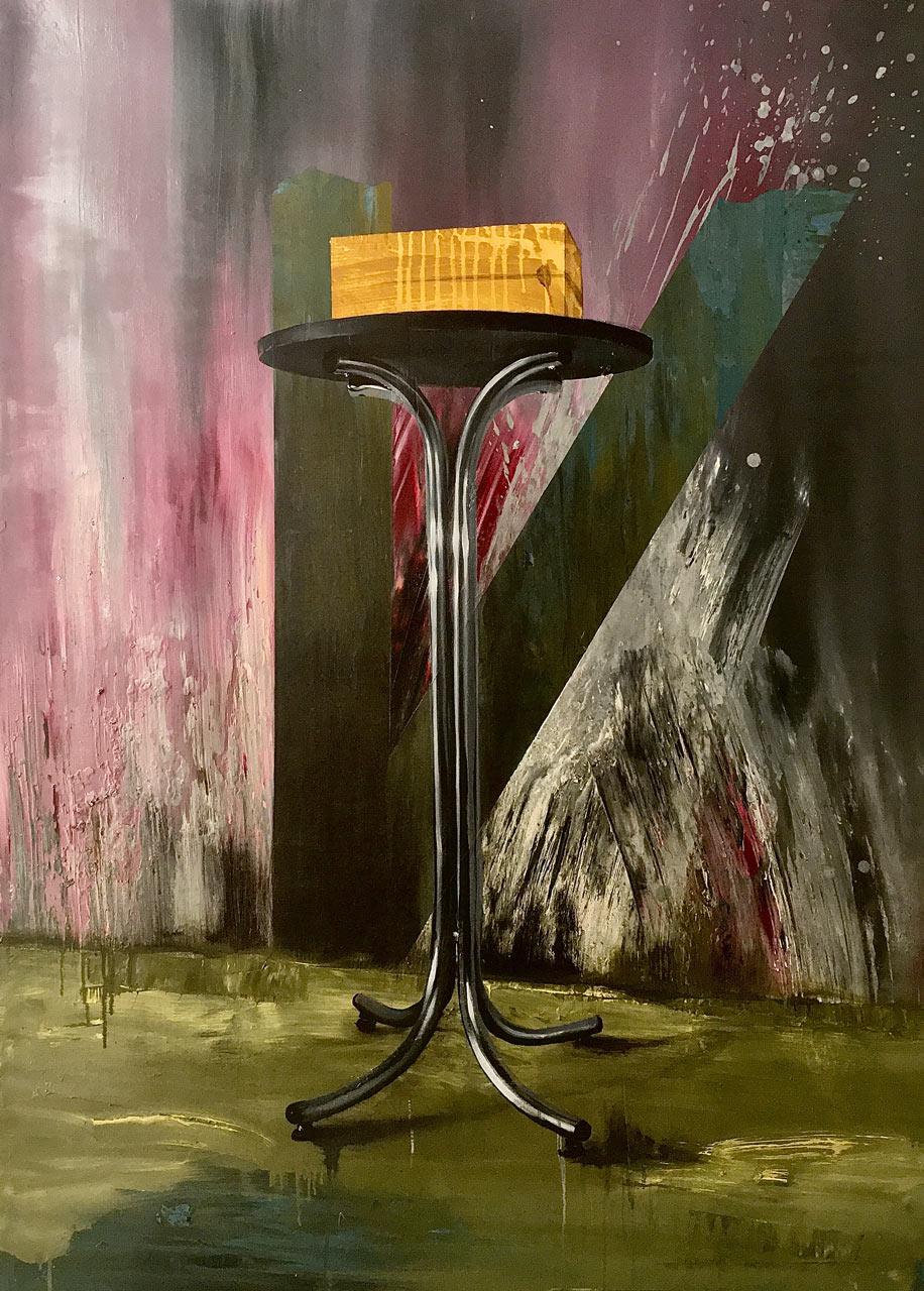 Kouzelná skříňka - olej na plátně 140 x 100, 2020
