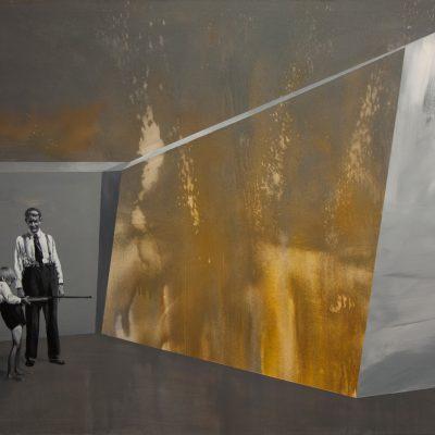 Střelba - arkyl na plátně, 200 x 140 cm, 2017