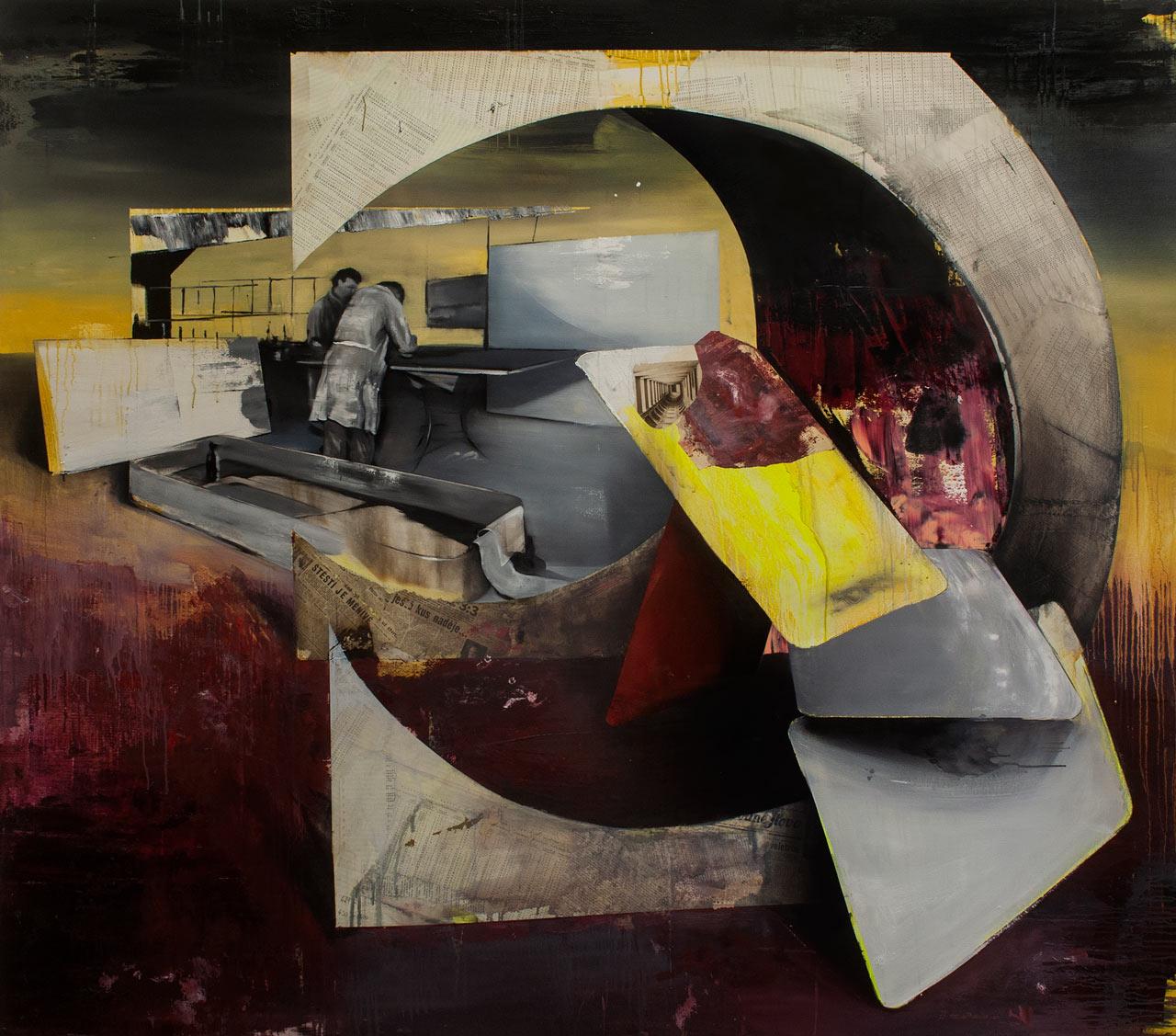 Vývojáři / naděje - Olej na plátně, 175 x 200 cm, 2020